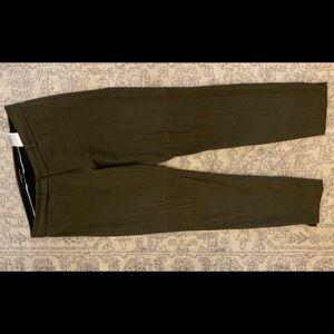 Army green Sloan dress pants